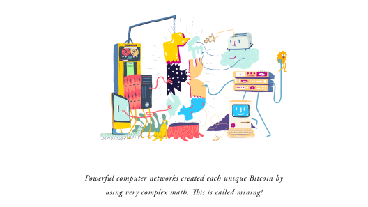 Square uses the style of a children's book to explain Bitcoin